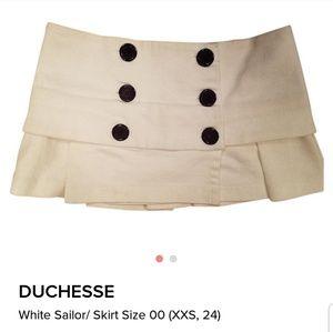 Duchesse micro mini sailor skirt